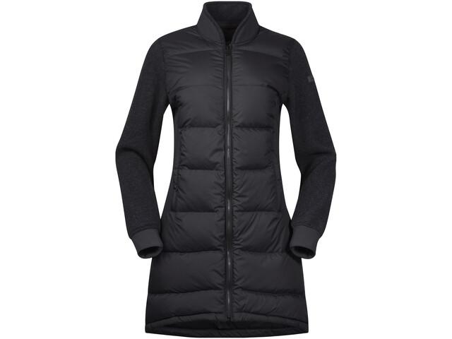 Bergans Oslo Down Hybrid Long Jacket Damen solidcharcoal/solidcharcoal mel